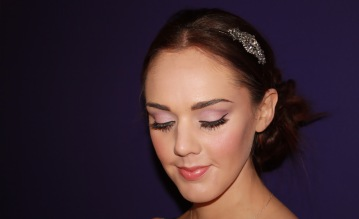 Soft pink, romantic bridal makeup