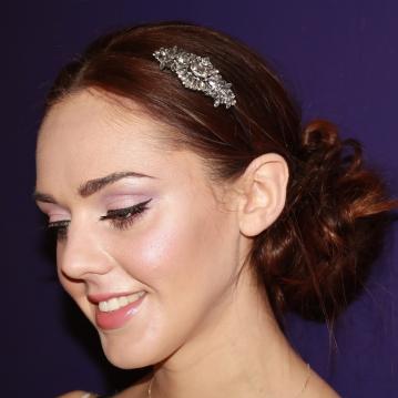 Soft pink, romantic bridal makeup